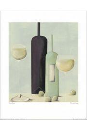 Butelki i lampki wina - reprodukcja
