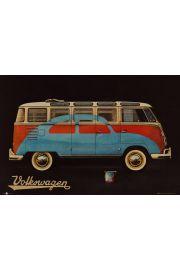 Volkswagen Camper Paint Advert - plakat