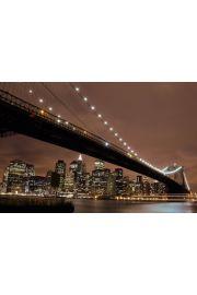 Nowy Jork Brooklyn Bridge Noc� - plakat