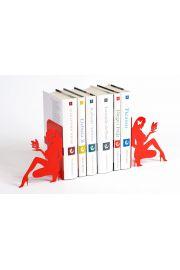 Podpórka do książek Kobieta z motylem (czerwona)