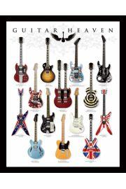 Guitar Heaven - Gitary - różne rodzaje - plakat