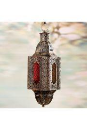 Marokański wiszący złoty lampion - Efektowne detale