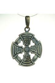 Krzy� celtycki - okr�g�y, br�z