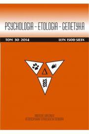 Psychologia-Etologia-Genetyka nr 30/2014