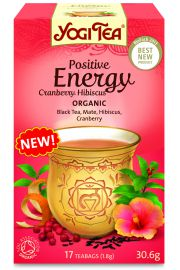 Herbata Pozytywna Energia Żurawina - Hibiskus (17X1,8G) Bio-Yo