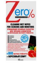 Nawilżane chusteczki do czyszczenia ekranów i monitorów ERO Zero