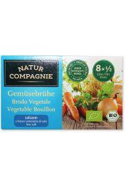 Bulion - Kostki Rosołowe O Obniżonej Zawartości Soli Bio 68 G - Natur Compagnie