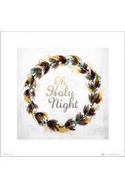 Christmas Wreath Holy - art print