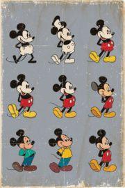 Myszka Miki Mickey Mouse ewolucja - plakat