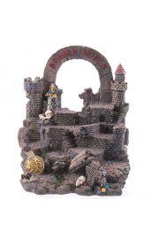 Zdobiona kryształami platforma pod figurki smoków