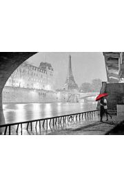 Paryż Romantyczny Pocałunek - plakat