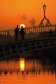 Dublin Halfpenny Bridge - plakat