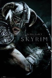 The Elder Scrolls V Skyrim Atak - plakat