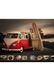 Volskwagen Camper Deska Surfingowa - plakat