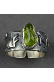 Pierścień obfitości FEHU z oliwinem nr. 20-22