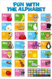 Nauka Alfabetu - plakat edukacyjny