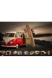 Volkswagen Camper Deski Surfingowe - plakat