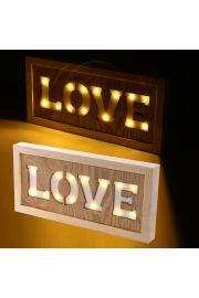 Ścienna dekoracja LED - LOVE