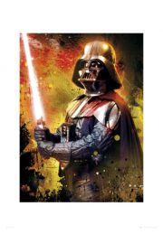 Star Wars Gwiezdne Wojny vader splatter - reprodukcja