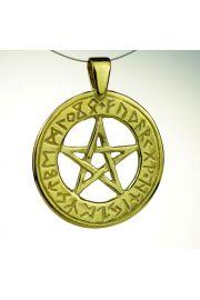 Pentagram runiczny , pozłacany