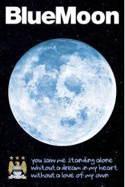 Manchester City Blue Moon - plakat