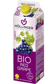Sok Z Czerwonych Winogron Bio 1 L - Hollinger