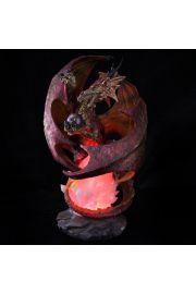 Figurka LED smok i pomarańczowy ogień
