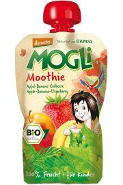 Moothie - Przecier Jabłkowy Z Bananem I Truskawką 100% Owoców Bez Dodatku Cukrów Bio 100 G - Mogli