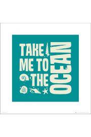 Bathroom Ocean - art print