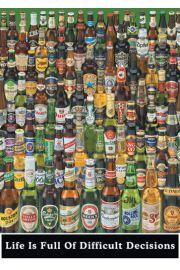 Piwo - Życie jest pełne trudnych decyzji - plakat