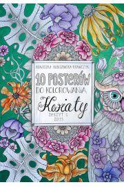 10 posterów do kolorowania 1 Kwiaty