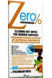 Nawilżane chusteczki do czyszczenia powierzchni drewnianych ERO Zero