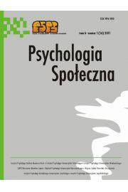 Psychologia Społeczna nr 1(16)/2011