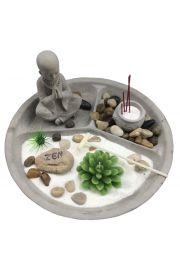 Okrągły Budda ogrodowy z podgrzewaczem