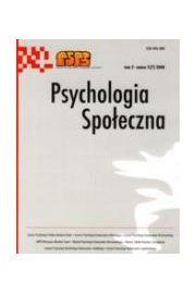 Psychologia Spo�eczna nr 2(7)/2008