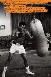 Muhammad Ali Worek Treningowy - plakat