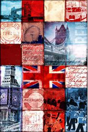 Londyn Patchwork - plakat