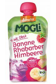Moothie - Przecier Bananowy Z Rabarbarem I Maliną 100% Owoców Bez Dodatku Cukrów Bio 100 G - Mogli