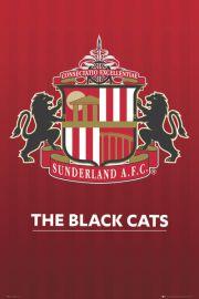 Sunderland - The Black Cats - Godło Klubu - plakat