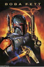 Star Wars Gwiezdne Wojny �owca G��w Boba Fett - plakat