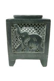 Kominek do aromaterapii z wyrzeźbionym słoniem