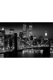 Nowy Jork Manhattan Nocą - plakat