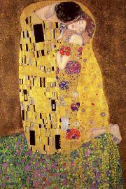 Gustav Klimt - The Kiss Poca�unek - plakat