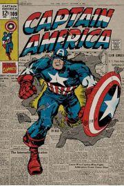 Kapitan Ameryka - retro plakat