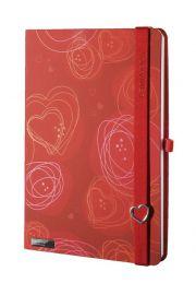 Notes A5 Lanybook Dreamy Love w linie czerwony