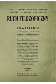 Ruch Filozoficzny. Kwartalnik. Tom LXVIII. Numer 2 (2011)