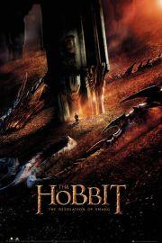 The Hobbit Pustkowie Smauga Smok - plakat