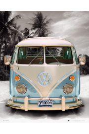 Californian Volkswagen Camper - plakat