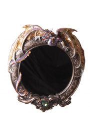 Okrągłe lusterko ze smokiem