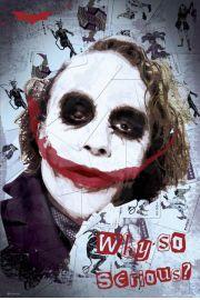 Batman Mroczny Rycerz Joker smile - plakat